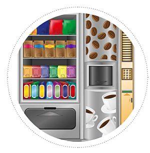 máquina expendedora dibujo
