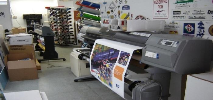 Instalaciones de un negocio de imprenta