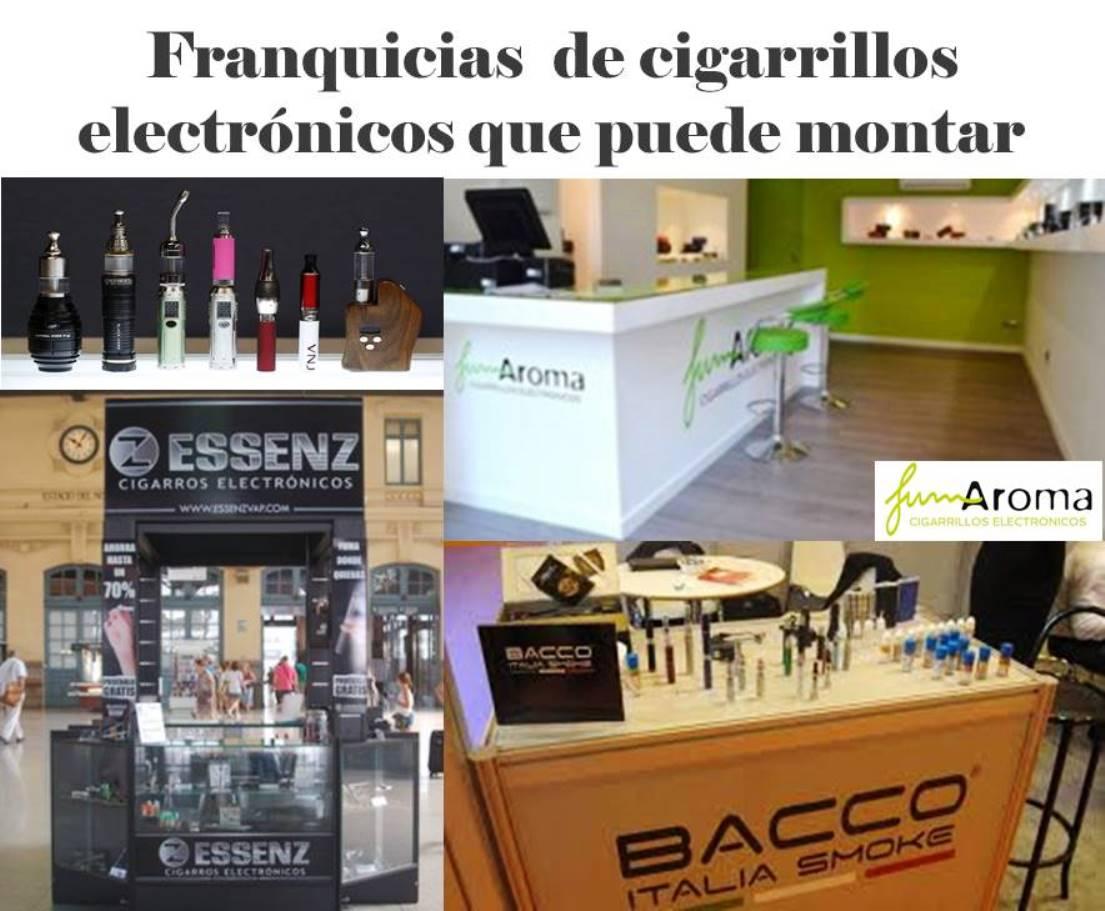 Franquicias de cigarrillos electrónicos que puede montar