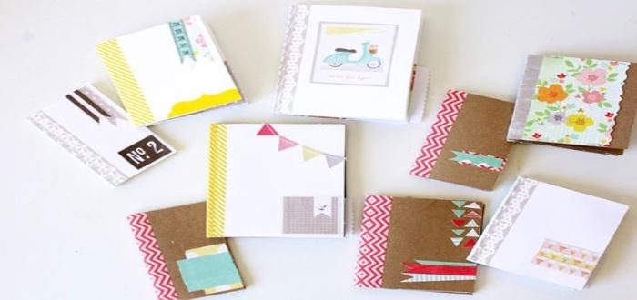 Vende cuadernos decorados