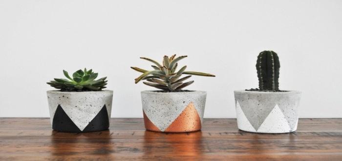 Incluye las macetas de cementos en tus artesanías para vender