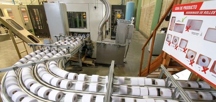 Planta de producción de papel