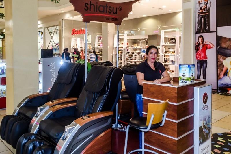 stand masajes centro comerciales