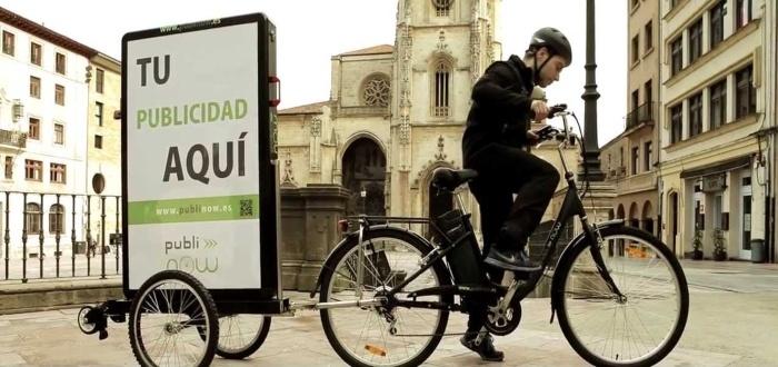 La publicidad sobre ruedas lidera las listas de ideas de negocios de bicicletas