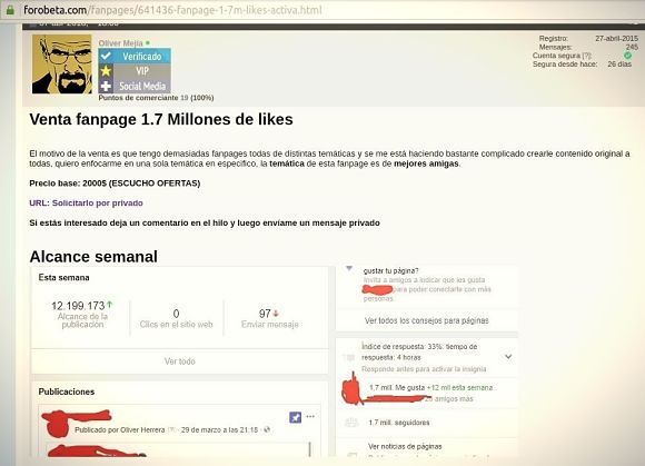 Ganar dinero en Facebookvendiendo tu propia página de Facebook