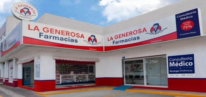 Farmacias La Generosa: Esta es una de las franquicias de farmacias que cumple con todas las características de buena inversión