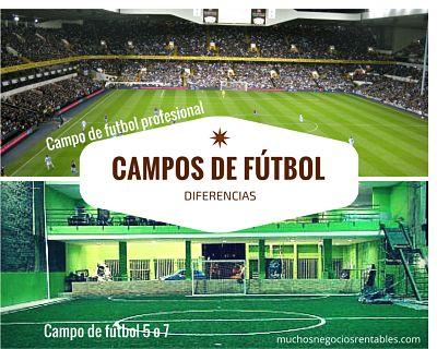 diferencias campo de fútbol 5 o 7 y tradicional