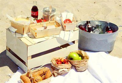 venta de comida en la playa