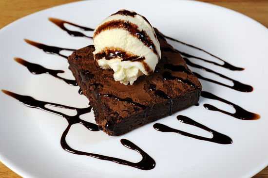 Postres para vender: brownie helado