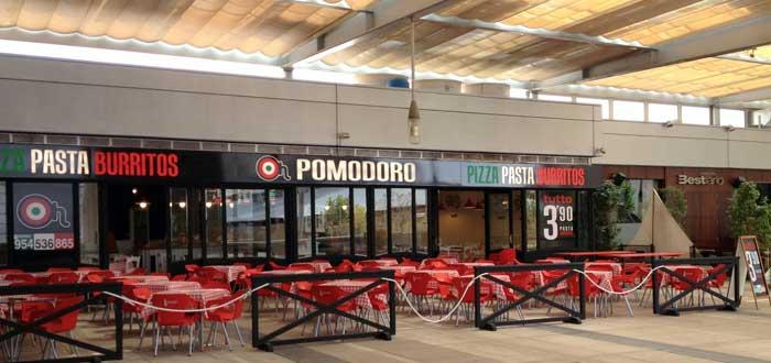restaurante de Pomodoro en un centro comercial