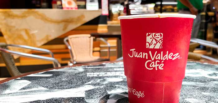 café con el logo de Juan Valdéz Café