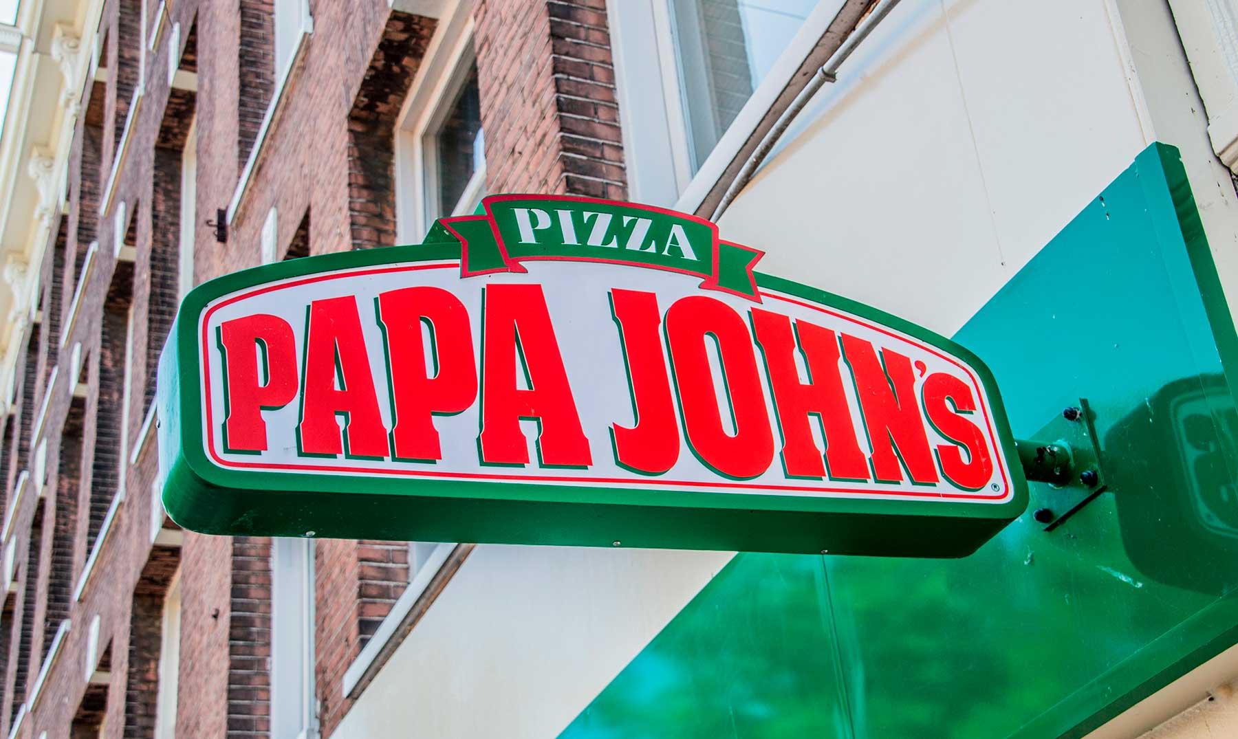 letrero de Papa John's Pizza