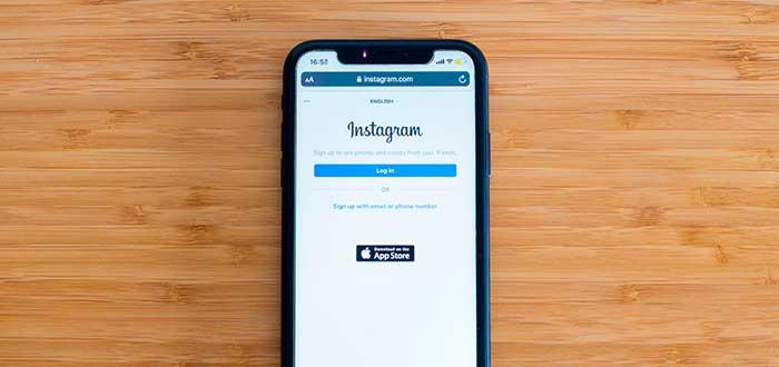 teléfono con la aplicación abierta lista para empezar a vender por instagram