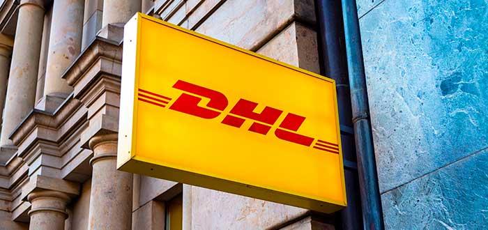 letrero de DHL