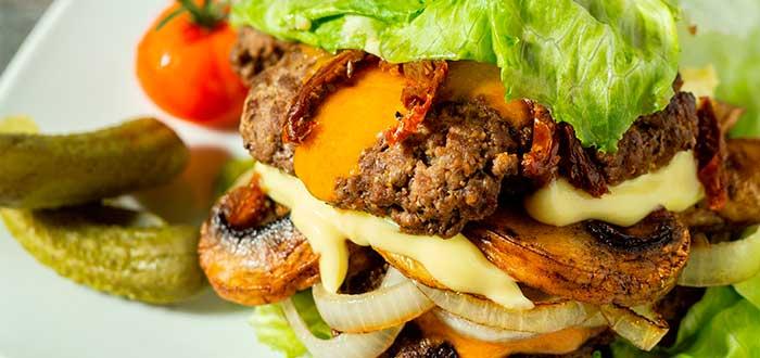 foto de hamburguesa