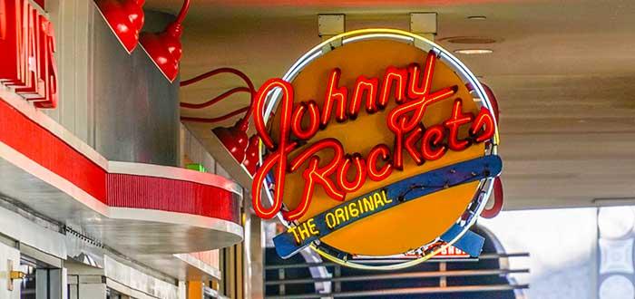 aviso luminoso de Johnny Rockets