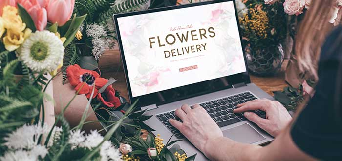 Negocio de floristería online a domicilio